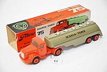 RARE TEKNO 434 SCANIA VABIS, BOX MISSING END FLAPS  (E-M BOX P)