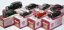 8 X GEMS & COBWEBS COLLECTION MODELS INCLUDING JAGUAR SS100; JAGUAR XK140; RILEY PATHFINDER; HEARSE; SS JAGUAR AIRLINE; JAGUAR MARK 9; JAGUAR MK.2 MONZA; AND JAGUAR XK140 (M BOXES E-M) (8)