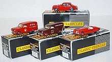 4 X GEMS & COBWEBS CLASSIC VEHICLE COLLECTION MODELS INCLUDING GC16JC JAGUAR MK2; GC23/OXO AUSTIN A60 VAN; GC23/AR AUSTIN A60 VAN; AND GC30LTE JAGUAR XK120 (M BOXES VG-M) (4)
