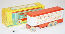 JRD 129 TRAILER 'TRANSPORTS INTERNATIONAUX', ORANGE AND WHITE (VG-E BOX G)