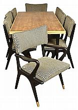 attributed to JACOB RUDOWSKI (AUSTRALIAN,1927-1996) NINE PIECE DINING SUITE