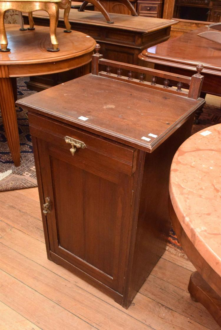 An antique bedside by 39 p gay maker 39 adelaide for Oriental furniture adelaide