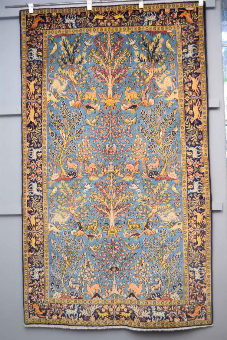 Original Persian Qum Silk Amp Wool Pile Tree Of Life Design