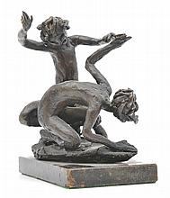 LENORE BOYD (born 1953) Two Figures bronze on marble base