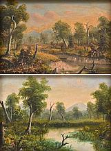 A.W. EUSTACE (1820-1907) Pair of Landscapes oil on board (2)