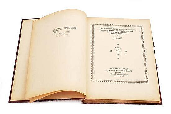 LINDSAY, NORMAN (Illust.) THE COMPLETE WORKS OF GAIUS PETRONIUS