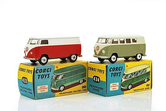 TWO CORGI VOLKSWAGENS INCLUDING 433; AND 434 (VG-E BOXES VG-E) (2)