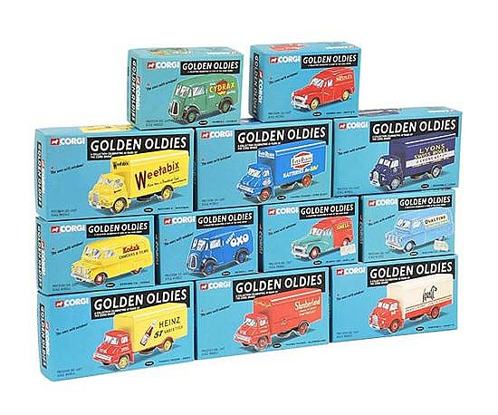 TWELVE CORGI GOLDEN OLDIES MODELS (M BOXES M) (12)