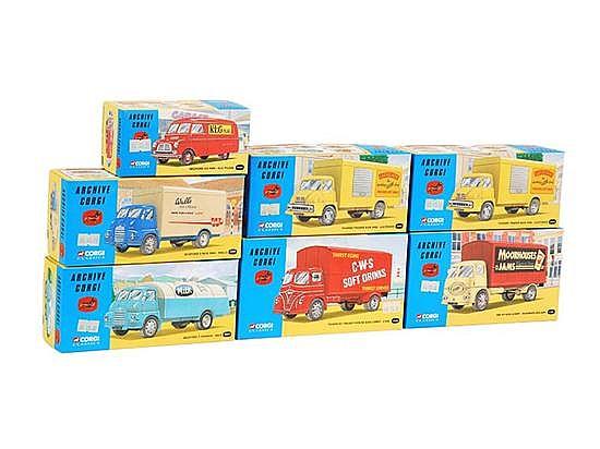 SEVEN ARCHIVE CORGI CLASSICS (M BOXES E-M) (7)