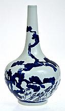 CHINESE BLUE AND WHITE BOTTLE VASE IN THE KANGXI STYLE, SEAL MARK TO BASE, 37CM HIGHÂ