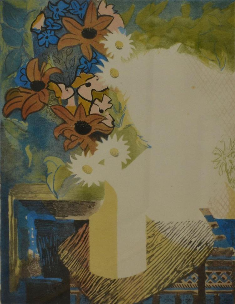 JACK COURIER, FLOWER PIECE, LITHOGRAPH 8/24, 49 X 39 CM
