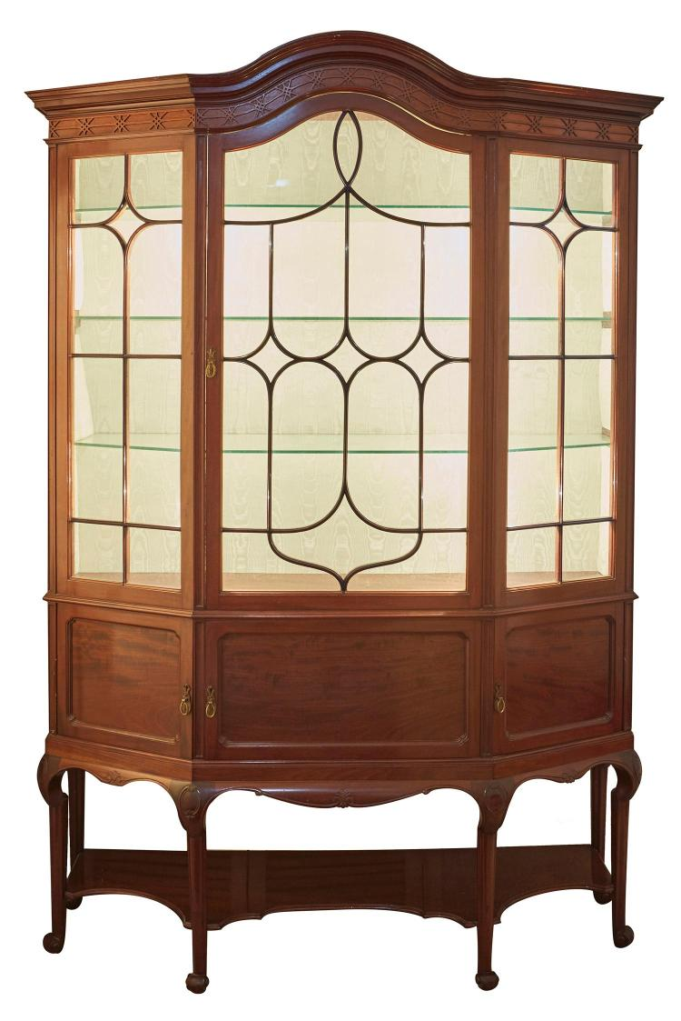 An Early 20th Century Mahogany Chippendale Style Display Cab
