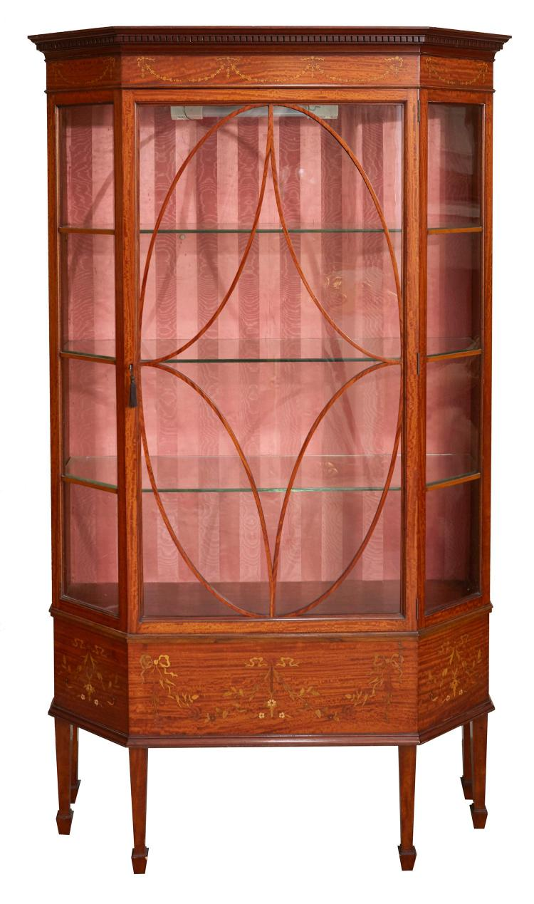 An Edwardian Sheraton Revival Display Cabinet