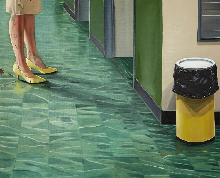ANNE WALLACE (born 1970) Fury 2001 oil on canvas