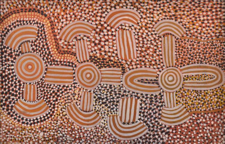 DAVID CORBY TJAPALTJARRI (c.1945-80) Untitled c.1974 acrylic on canvas
