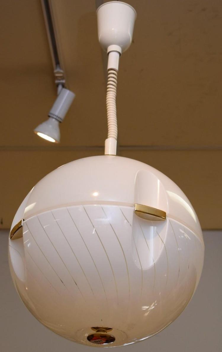 Ceiling ball light with golden fixtures