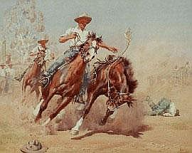 Allan Thomas Bernaldo (1900-1988) The Rodeo 1941