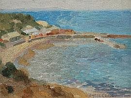 Sybil Craig (1901-1989) Half Moon Bay oil on panel