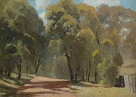 Albert Ernest Newbury (1891-1941) Landscape with