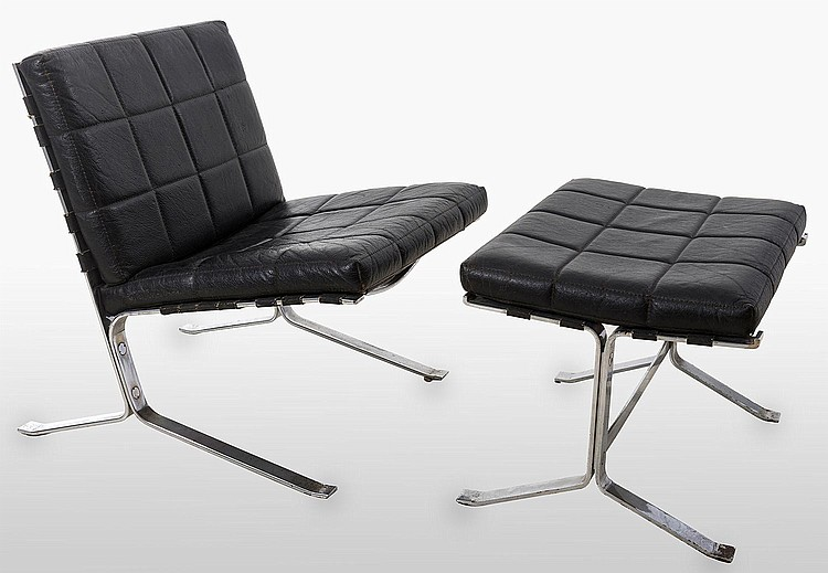 Olivier mourgue joker lounge chair and matching ottoman for Matching lounge furniture