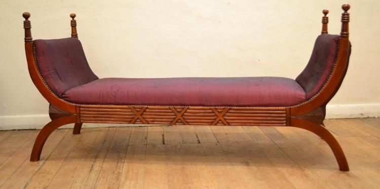 An antique style two seat chaise lounge for Antique chaise lounge styles