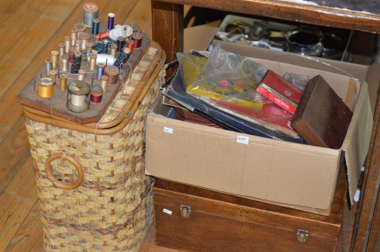 Basket Making Supplies Melbourne : A collection of dress making accoutrements including materia