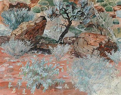 JOHN WALTER WOLSELEY (1938 - ) Corkwood Tree, Palm