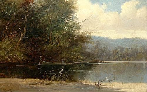 GLADSTONE EYRE (1863 - 1933) Tasmanian River Scene