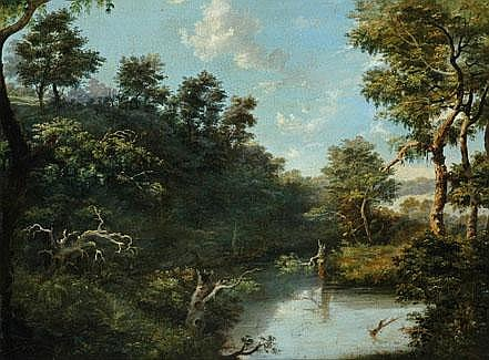 ISAAC WHITEHEAD (1819 - 1881) Upper Yarra signed