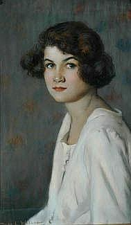 DORA LYNELL WILSON (1883 - 1946) Young Girl signed