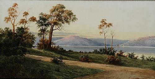 GLADSTONE EYRE (1863 - 1933) The Derwent River