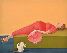 PRUDENCE FLINT (BORN 1962) The Company You Keep # 8 2000 acrylic on canvas
