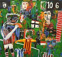 PETER STEPHENSON (BORN 1943) Tribal Fever 2004 oil on canvas