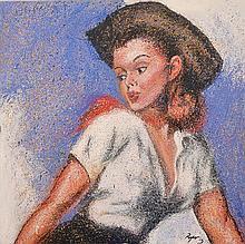 DENNIS ROPAR (BORN 1971) Cow Girl 2003 oil on canvas