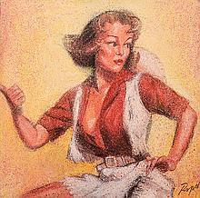 DENNIS ROPAR (BORN 1971) Line Dancing oil on canvas