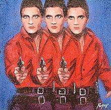 DENNIS ROPAR (BORN 1971) Elvis oil on canvas