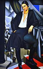 AFTER TAMARA DE LEMPICKA Power Dresser, Hyatt Hotel, 1978 oil on canvas