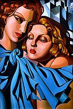 AFTER TAMARA DE LEMPICKA Les Juine, Hyatt Hotel 1978 oil on canvas