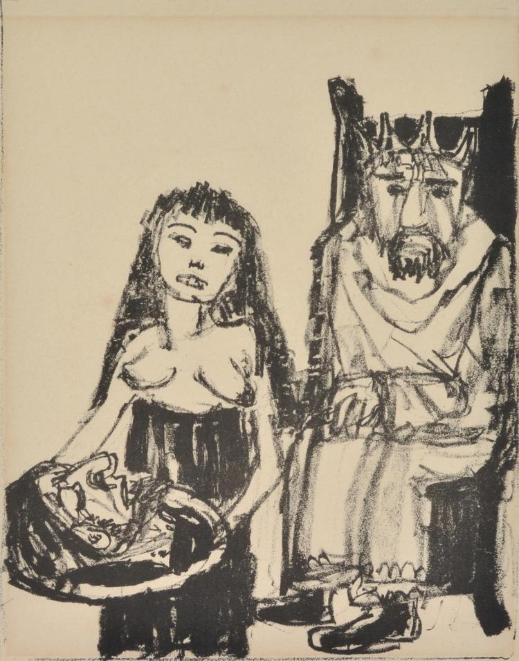OTTO DIX (German, 1891-1969) The Beheading of John the Baptist lithograph