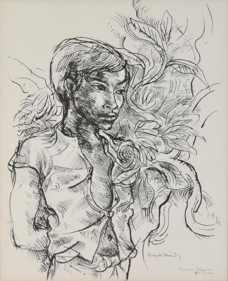 DONALD FRIEND (1915-1989) Bali Boy lithograph edition 90/200