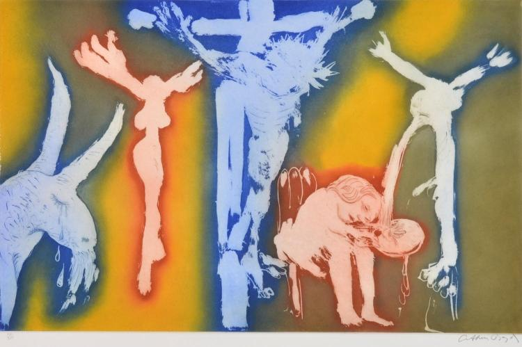 ARTHUR BOYD (1920-1999) Untitled (Crucifix) etching edition 14/30