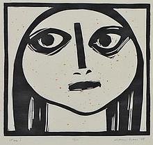 NOEL COUNIHAN (1913-1986) Face I 1978 linocut edition 19/25