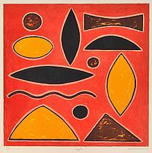 JOHN COBURN (1925-2006) Jazz II 2000 screenprint edition T/P