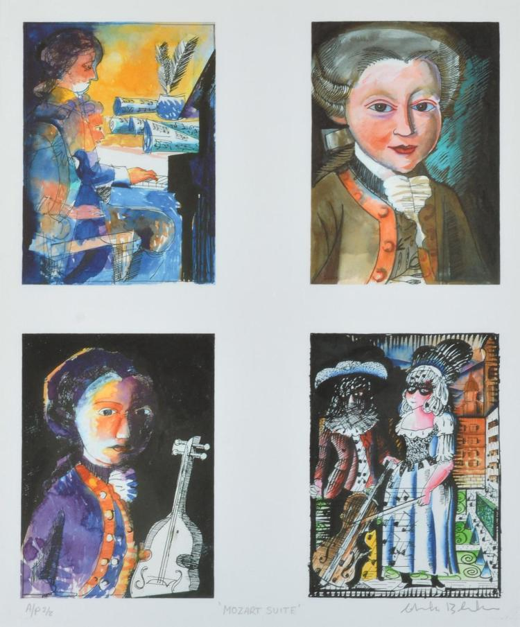 CHARLES BLACKMAN (born 1928) Mozart Suite inkjet print (4 panels) Artist's Proof 2/8