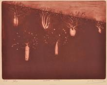 JEFF MAKIN (born 1943) Desert Boabs 2002 etching edition S.E. X/XX