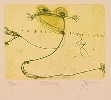 JOHN OLSEN (born 1928) Billabong 2002 etching edition 53/100