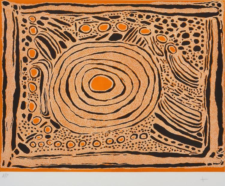 NYURAPAYIA NAMPITJINPA (MRS BENNETT) (born c.1935) Untitled collagraph Artist's Proof