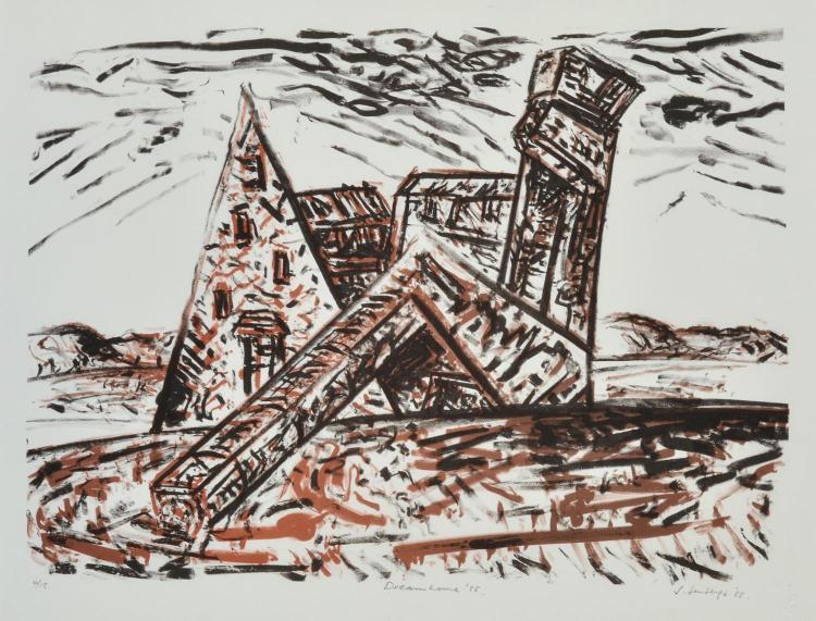 JAN SENBERGS (born 1939) Dream Home 1985 lithograph edition 4/15