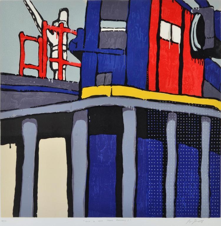 JASPER KNIGHT (born 1978) Tate and Lyle Sugar Refinery I collagraph edition 24/50