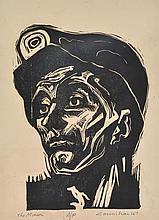 NOEL COUNIHAN (1913-1986) The Miner 1947 linocut Artist''s Proof